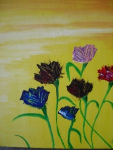 Fiori, Acrylic on canvas, 2008
